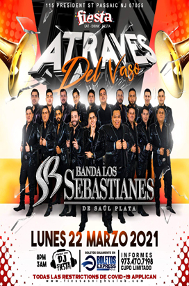 Monday Marzo 22 Banda Los Sebastianes