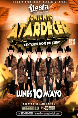 Monday, May 10, 2021 Conjunto Atardecer