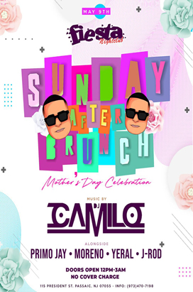 Sunday, May 9, 2021 DJ Camilo After Brunch