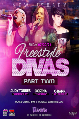 Friday, July 30, FREESTYLE DIVAS PARTY TWO