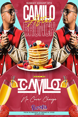 Sunday August 8th After Brunch with Dj Camilo