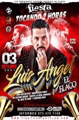 Sunday, October 3, 2021  LUIS ANGEL EL FLACO EN CONCIERTO